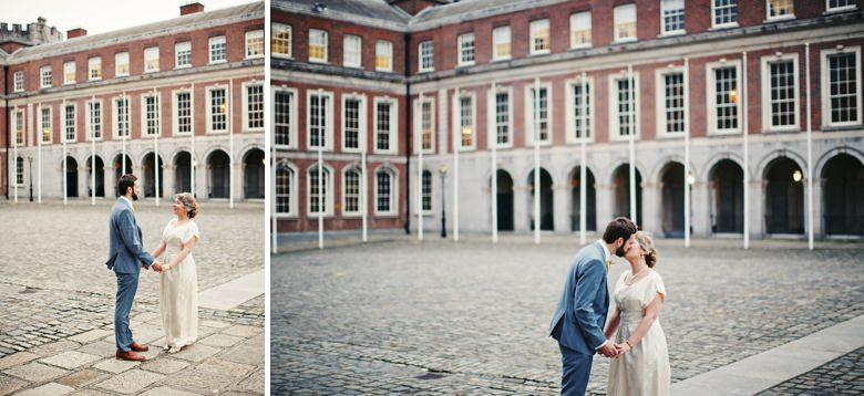 Dublin Castle Bride and Groom