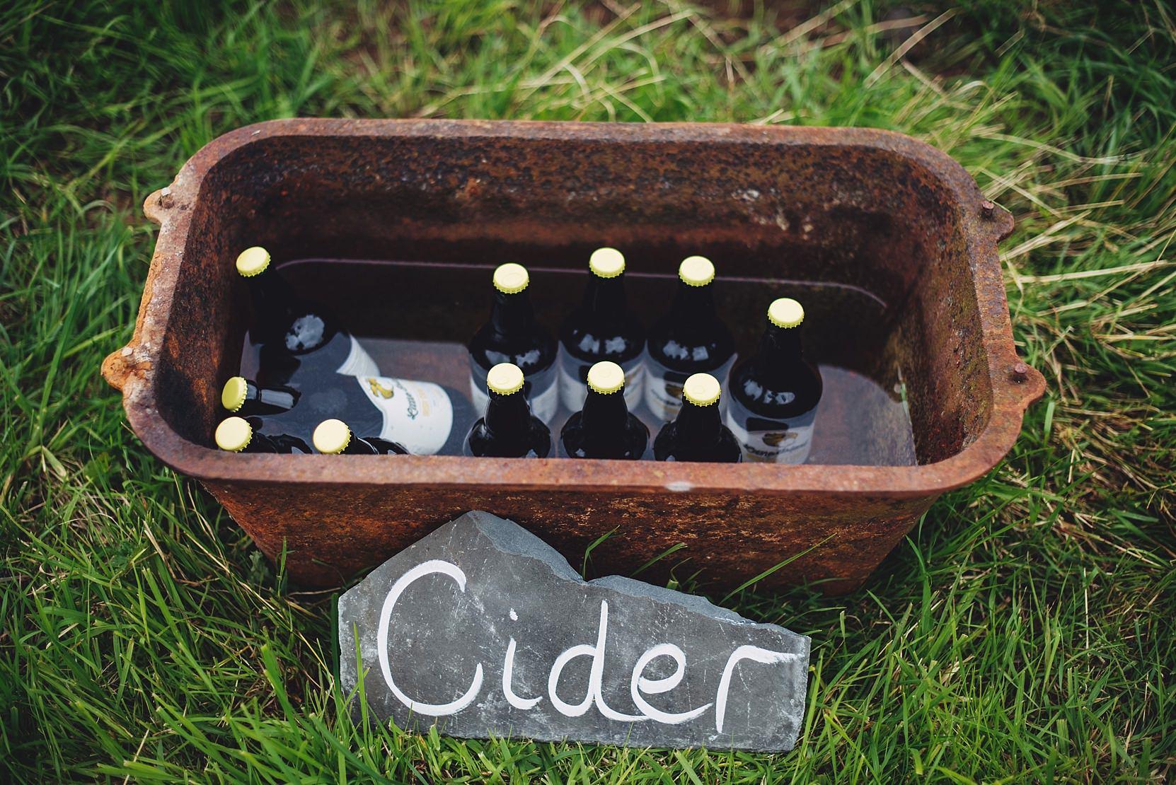 cider in a trough