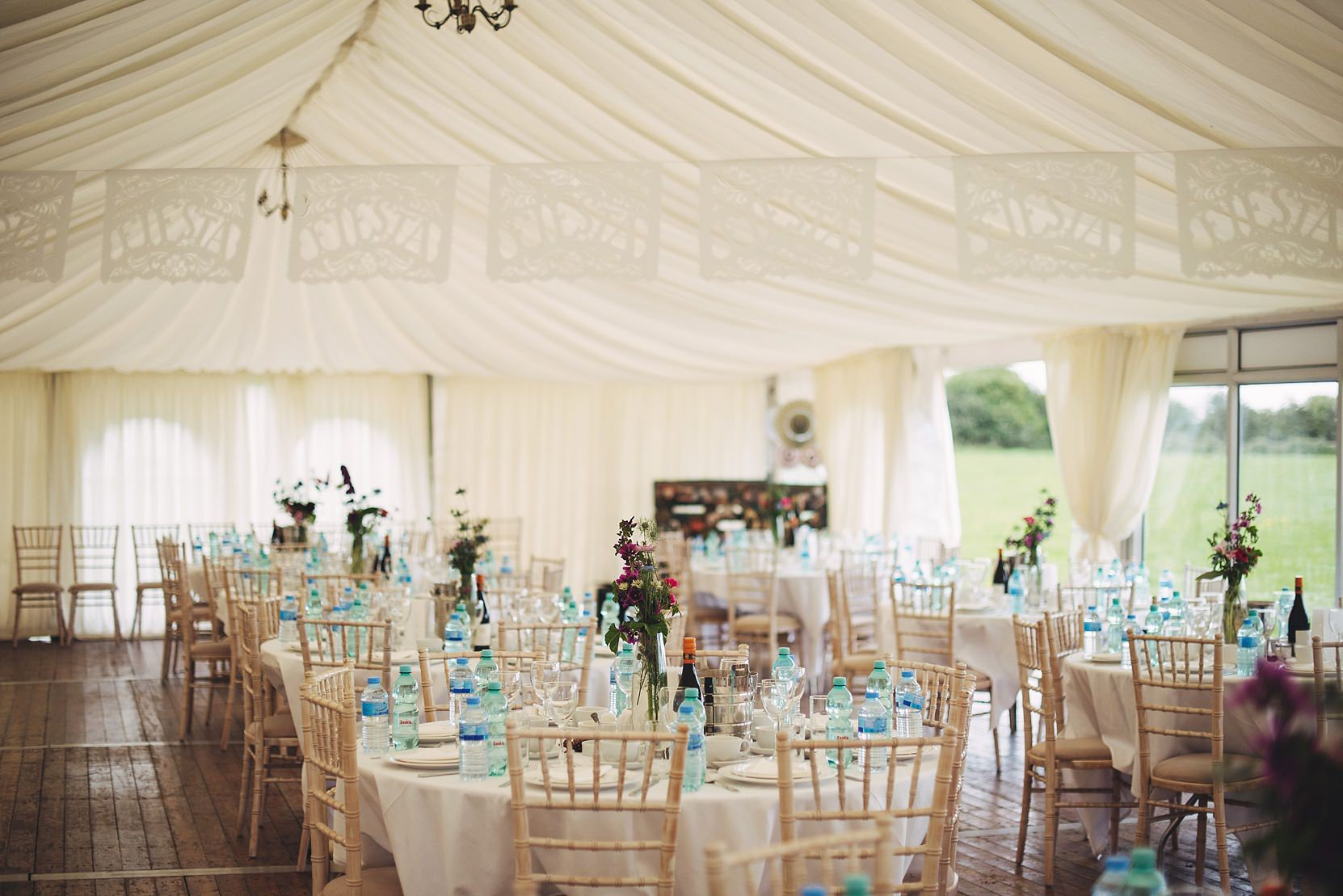 Wedding Tables in a Marquee