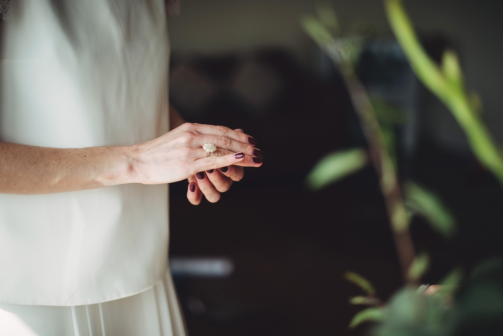 A bride with her ring