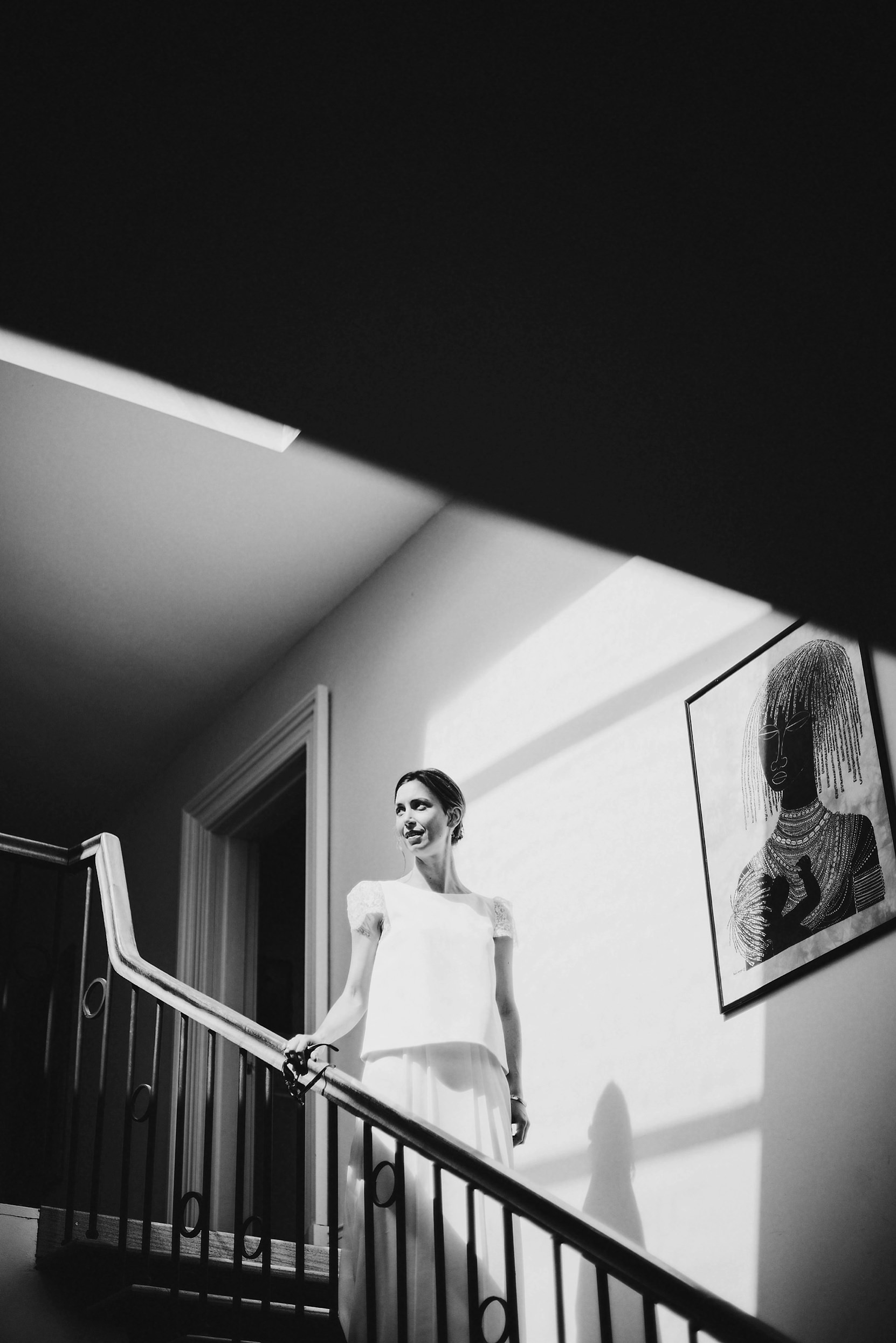 The bride in good light