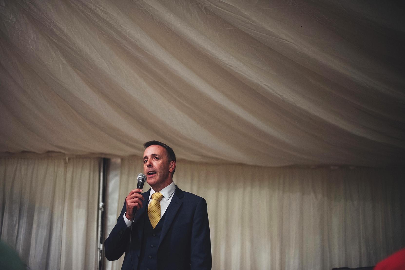 The bestman making a speech