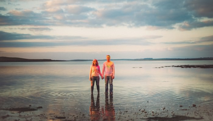 Sarah + Gordon's Crazy Colourful Beach Engagement Photography Shoot