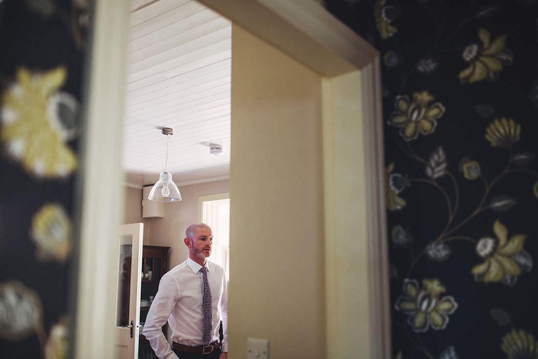 groom through the doorway