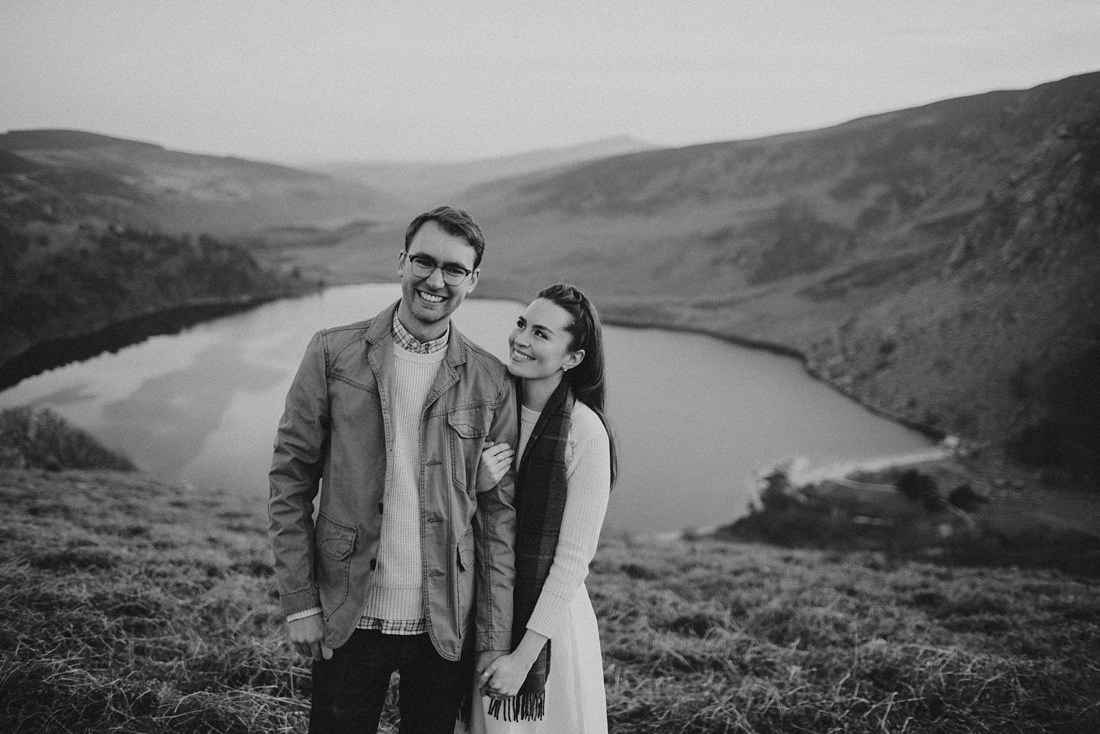 Bride and Groom to be at Lough Tay