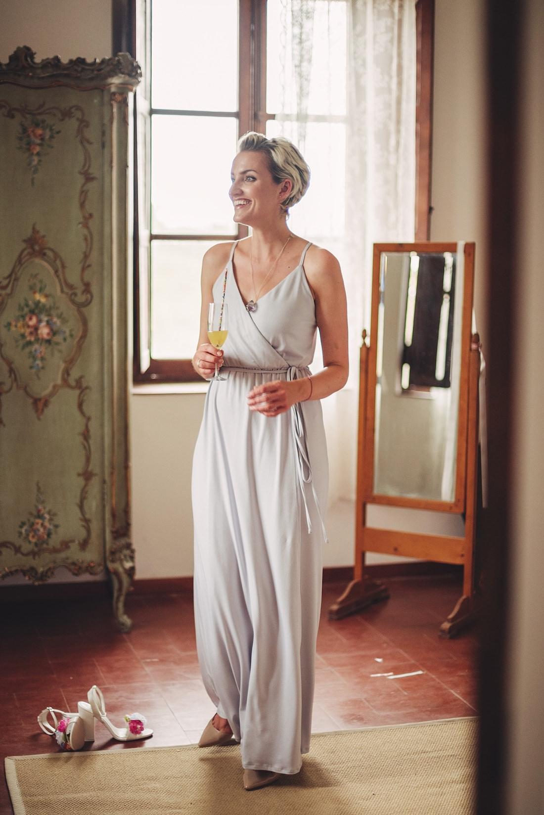 Bridesmaid at Borgo di Tragliata
