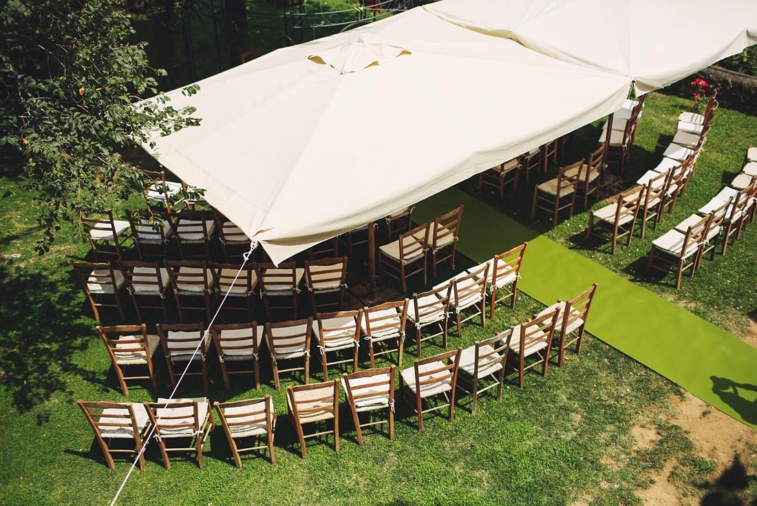 Ceremony Setup at Borgo di Tragliata