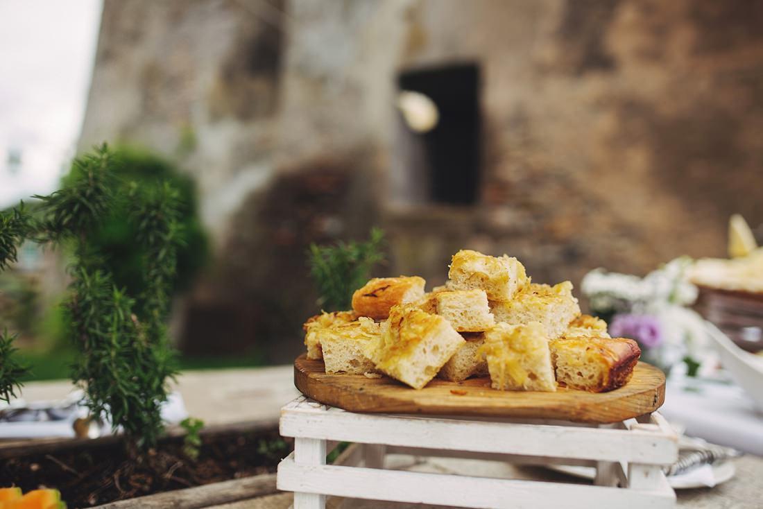 Wedding food at Borgo di Tragliata