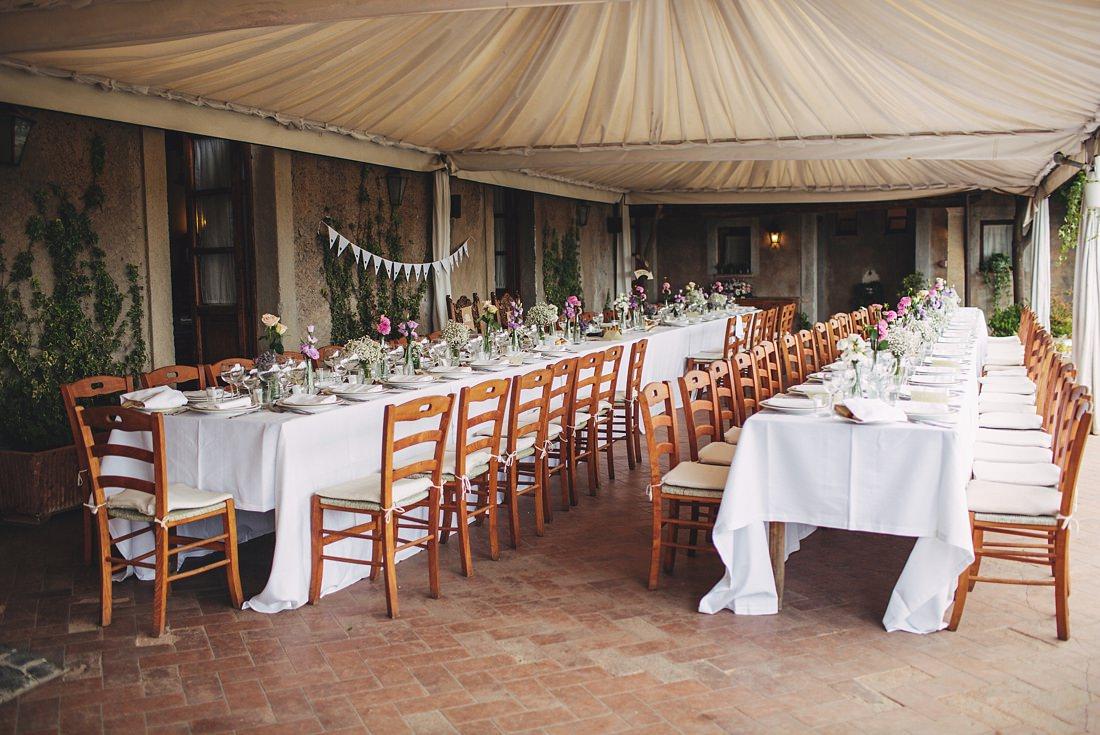 Borgo di Tragliata Wedding Setup