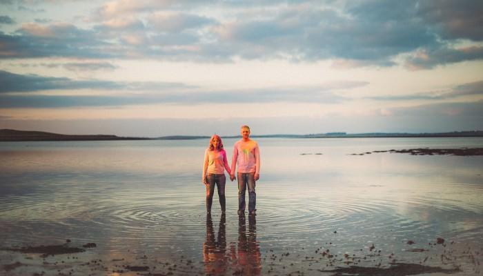 Sarah + Gordon's Crazy Colourful Beach Engagement Photography Shoot